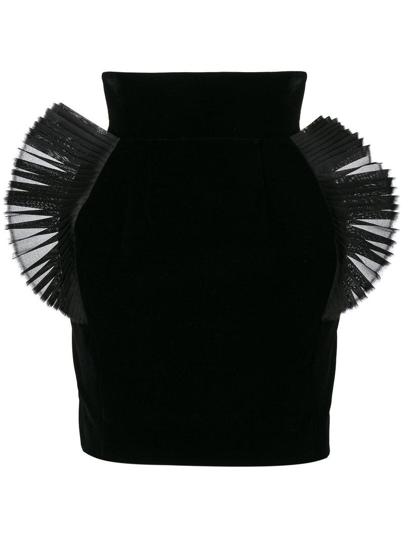 Ronald Van Der Kemp pleated organza embellished mini skirt From China Low Shipping Fee Buy Cheap Best Store To Get Cheap Sale Wide Range Of Visit New Cheap Online 2PVhUv