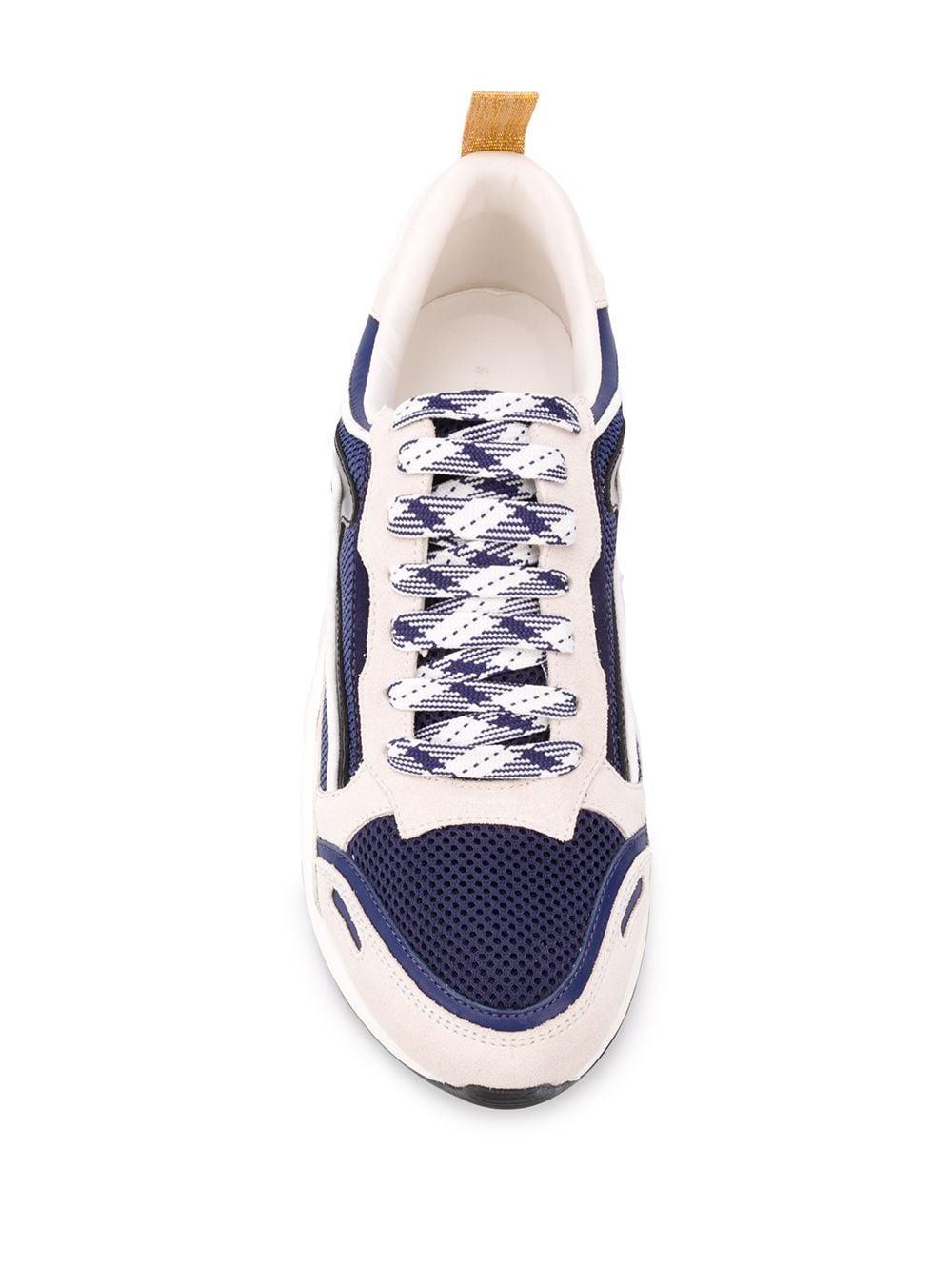 Baskets Flame Cuir Sandro en coloris Bleu yQ0N