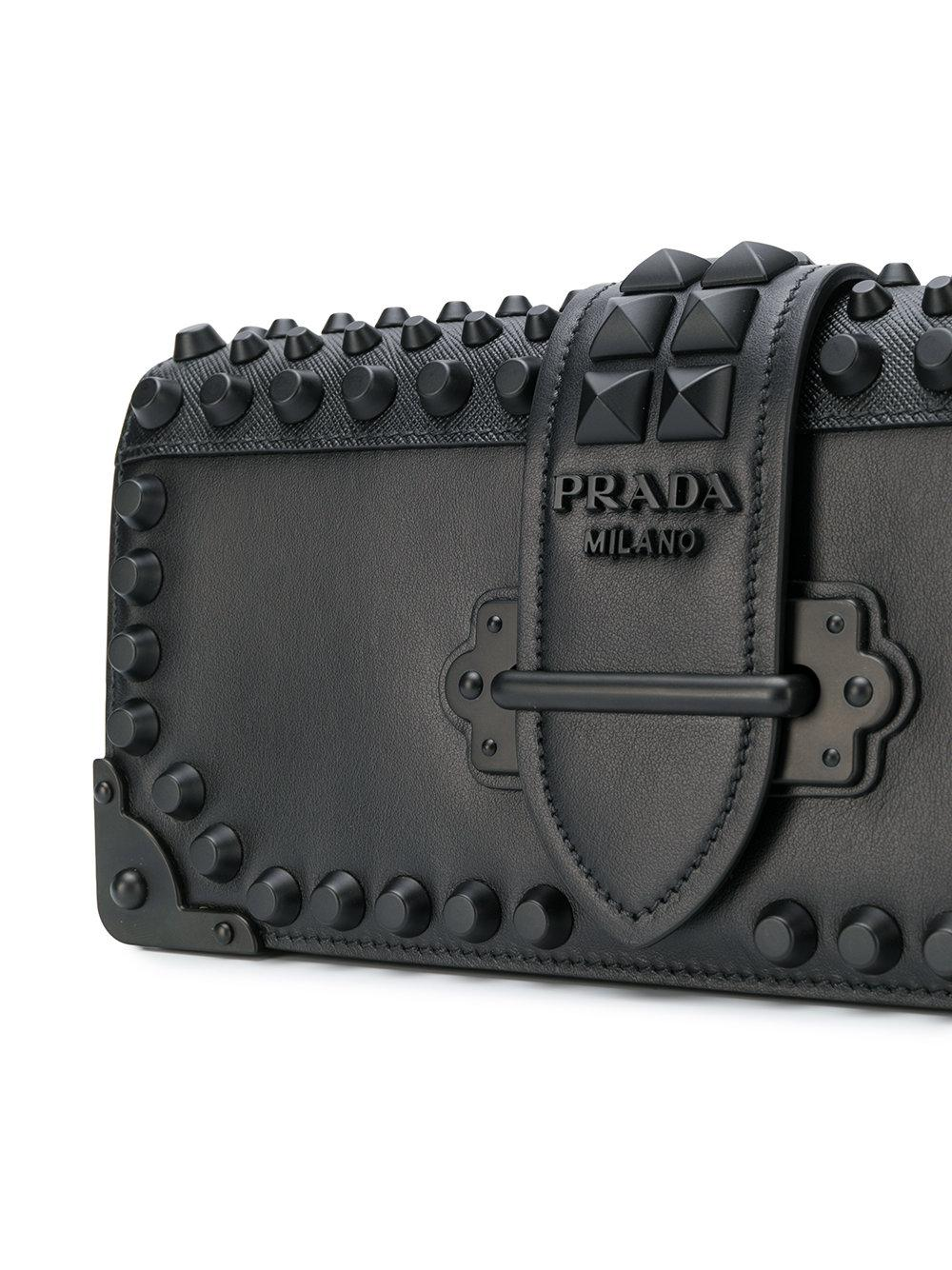 Prada Women's Black Leather Shoulder Bag