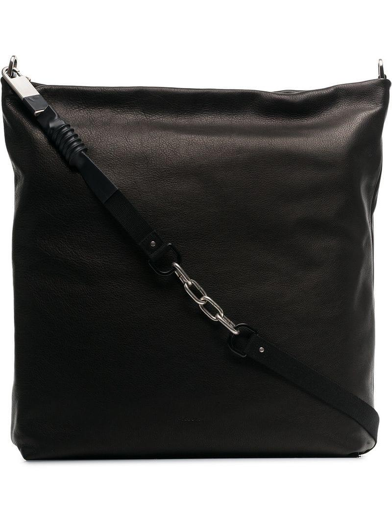 1c97a2de7f Rick Owens Leather Mail Shoulder Bag in Black for Men - Lyst