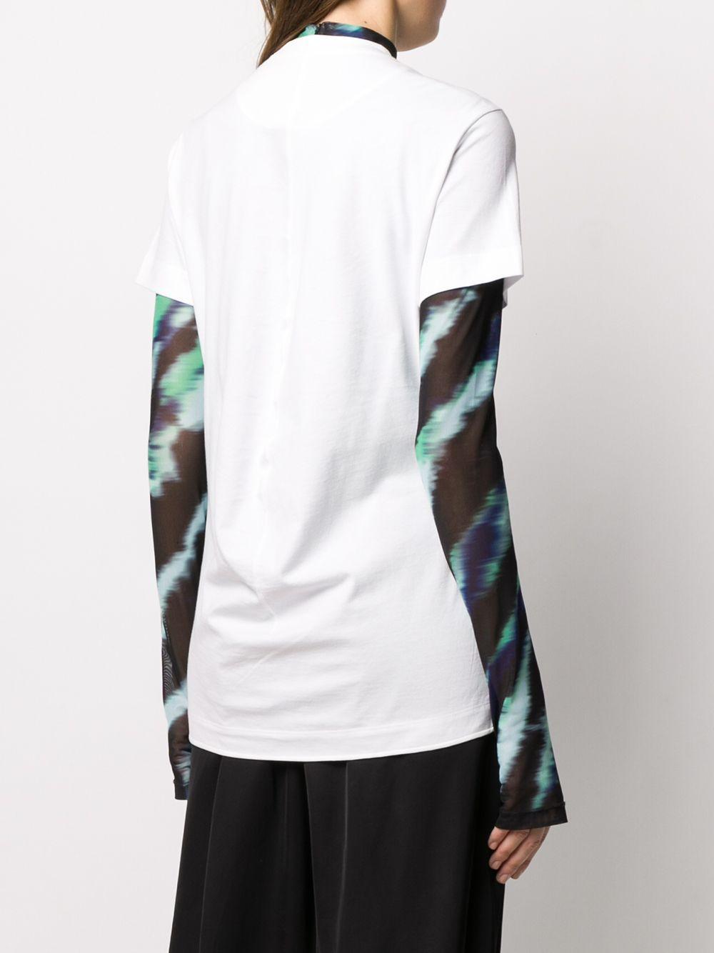 Camiseta Chest Core Y-3 de Algodón de color Blanco