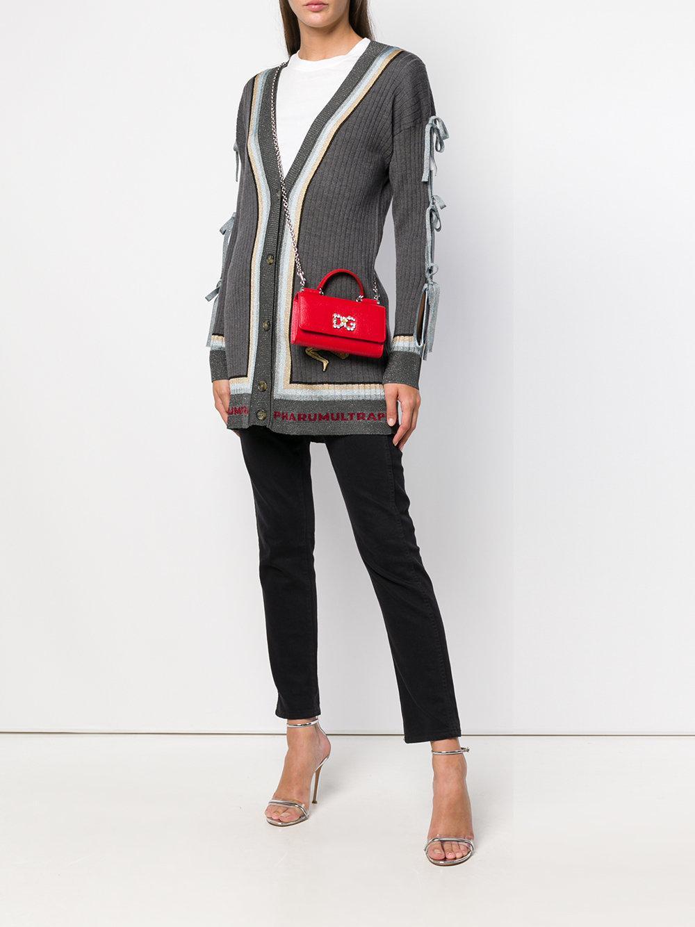 f06ccdd97a85 Lyst - Dolce   Gabbana Sicily Von Mini Tote Bag in Red