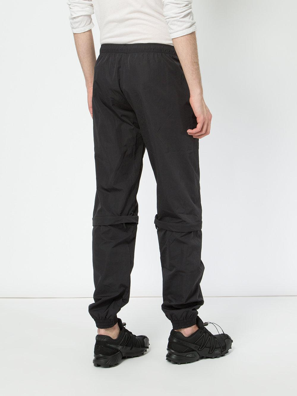 Cottweiler Synthetic Elasticated Track Pants in Black for Men