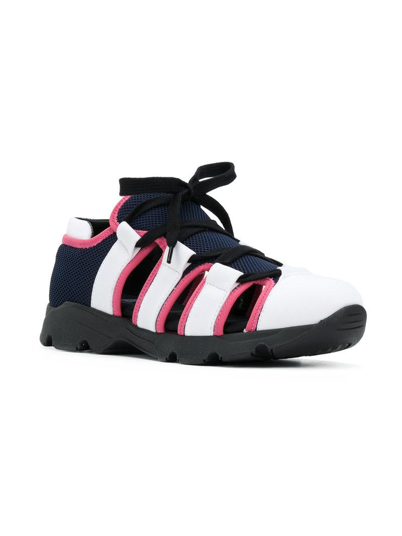 cut out sneakers - Blue Marni Factory Outlet Cheap Online DWhqolDpzW