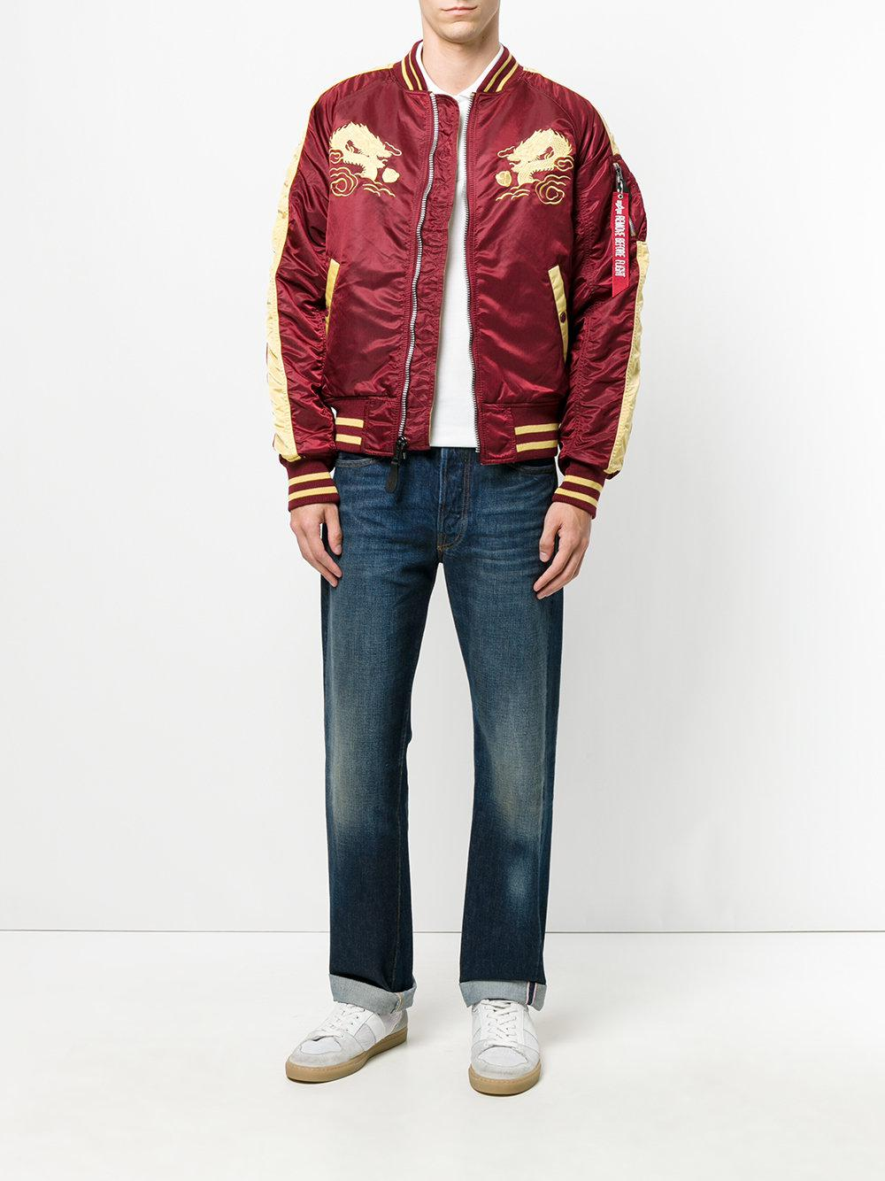 Alpha Industries Synthetic Japan Embroidered Bomber Jacket for Men