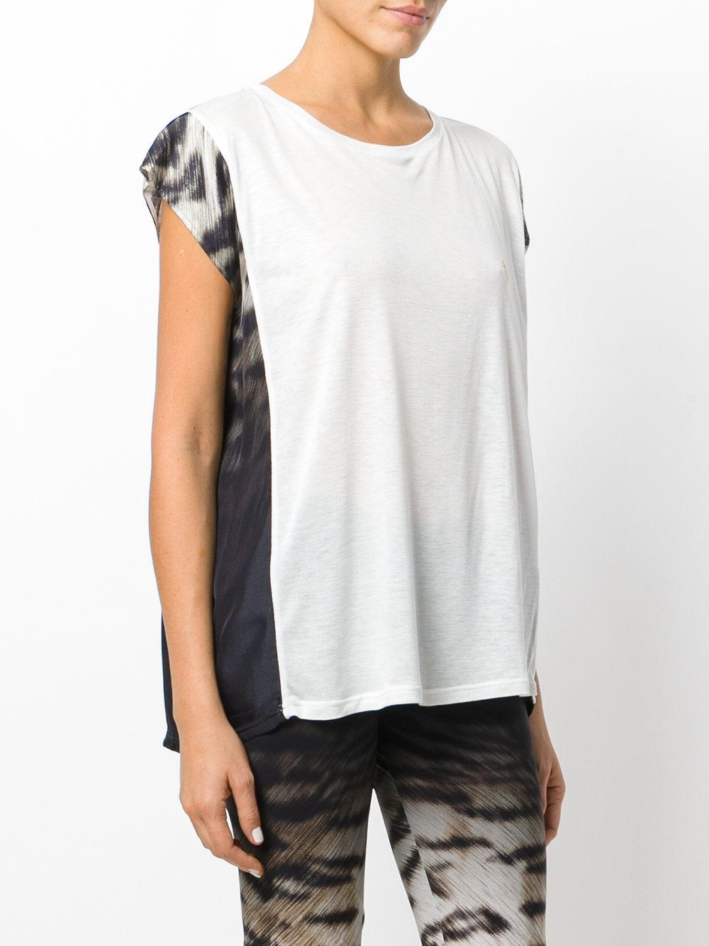 lyst roberto cavalli loose fit crew neck t shirt in white