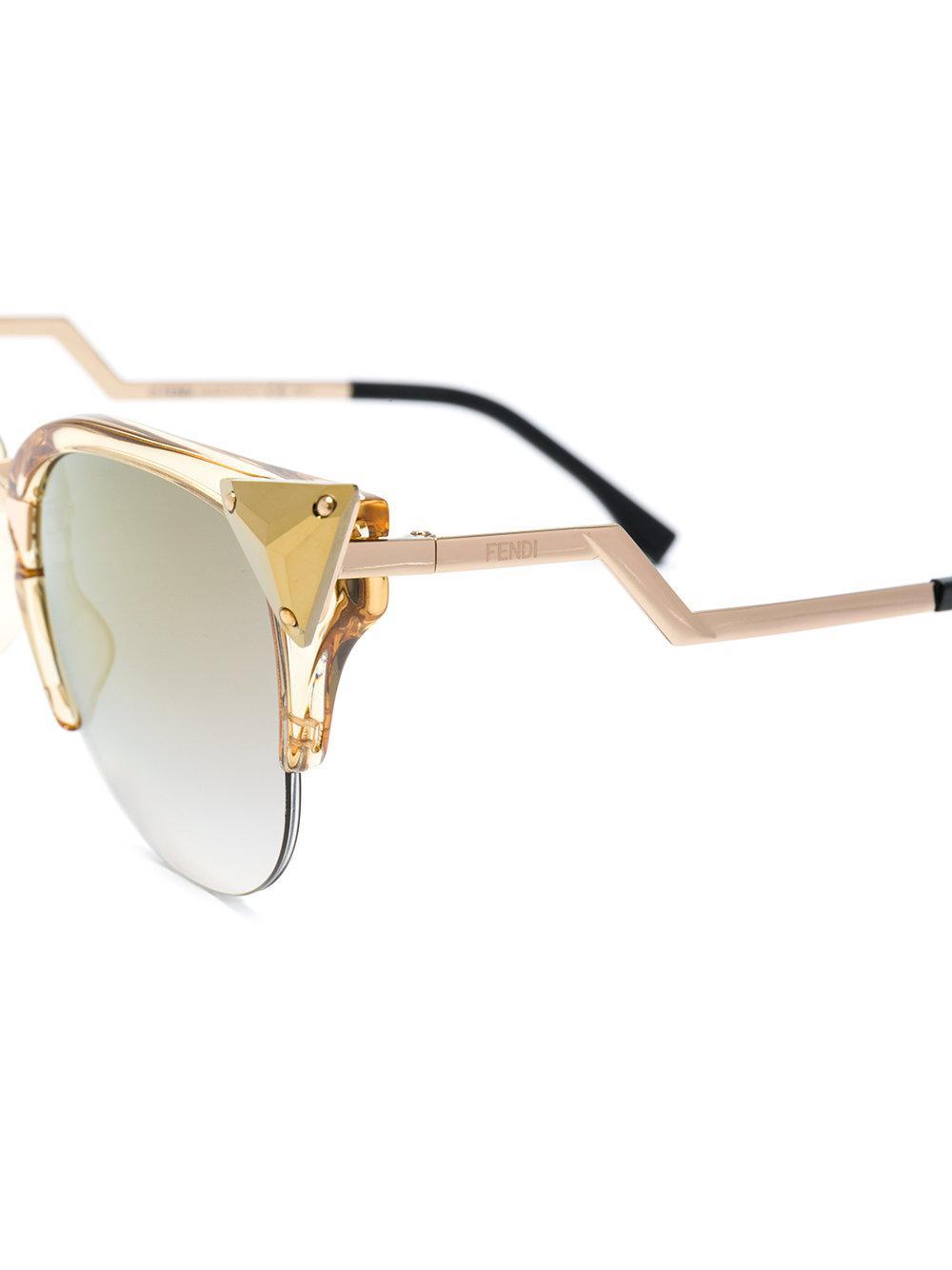 Fendi Cat Eye Sunglasses in Metallic
