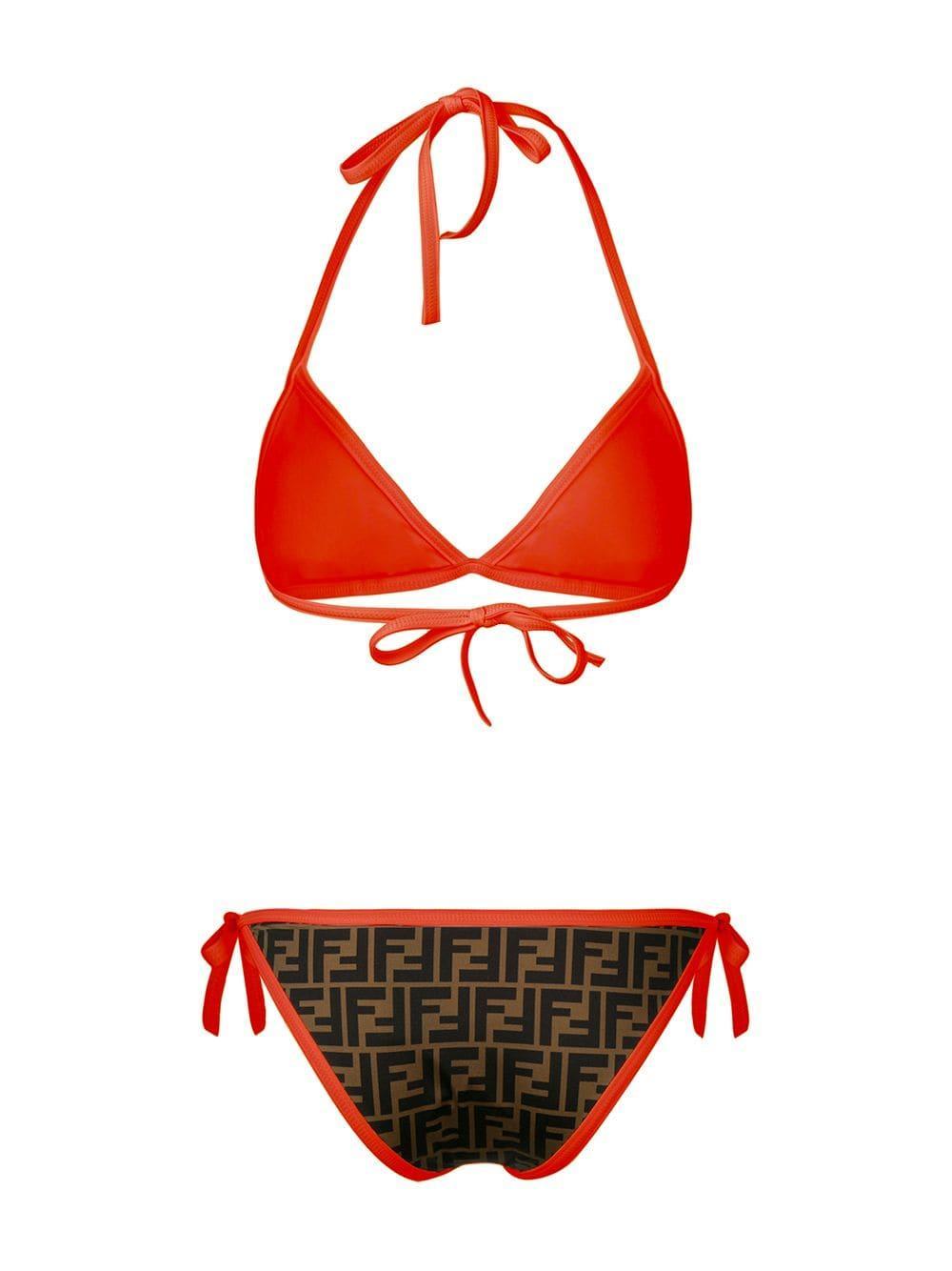 8f7c11974e Fendi - Orange Monogram Bikini Set - Lyst. View fullscreen
