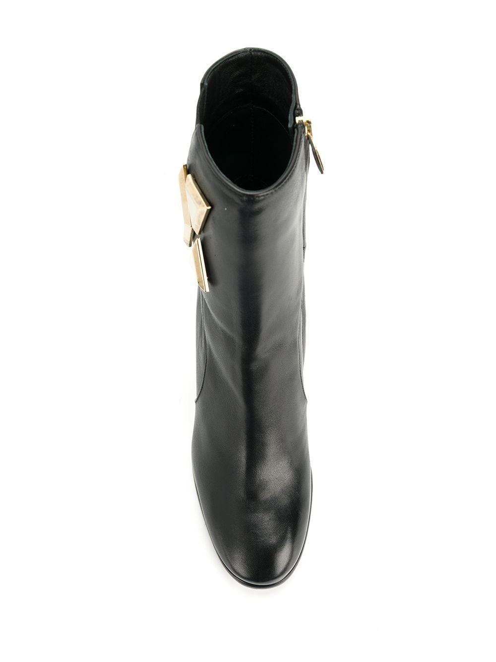 Baldinini Leather Rica Ankle Boots in Black