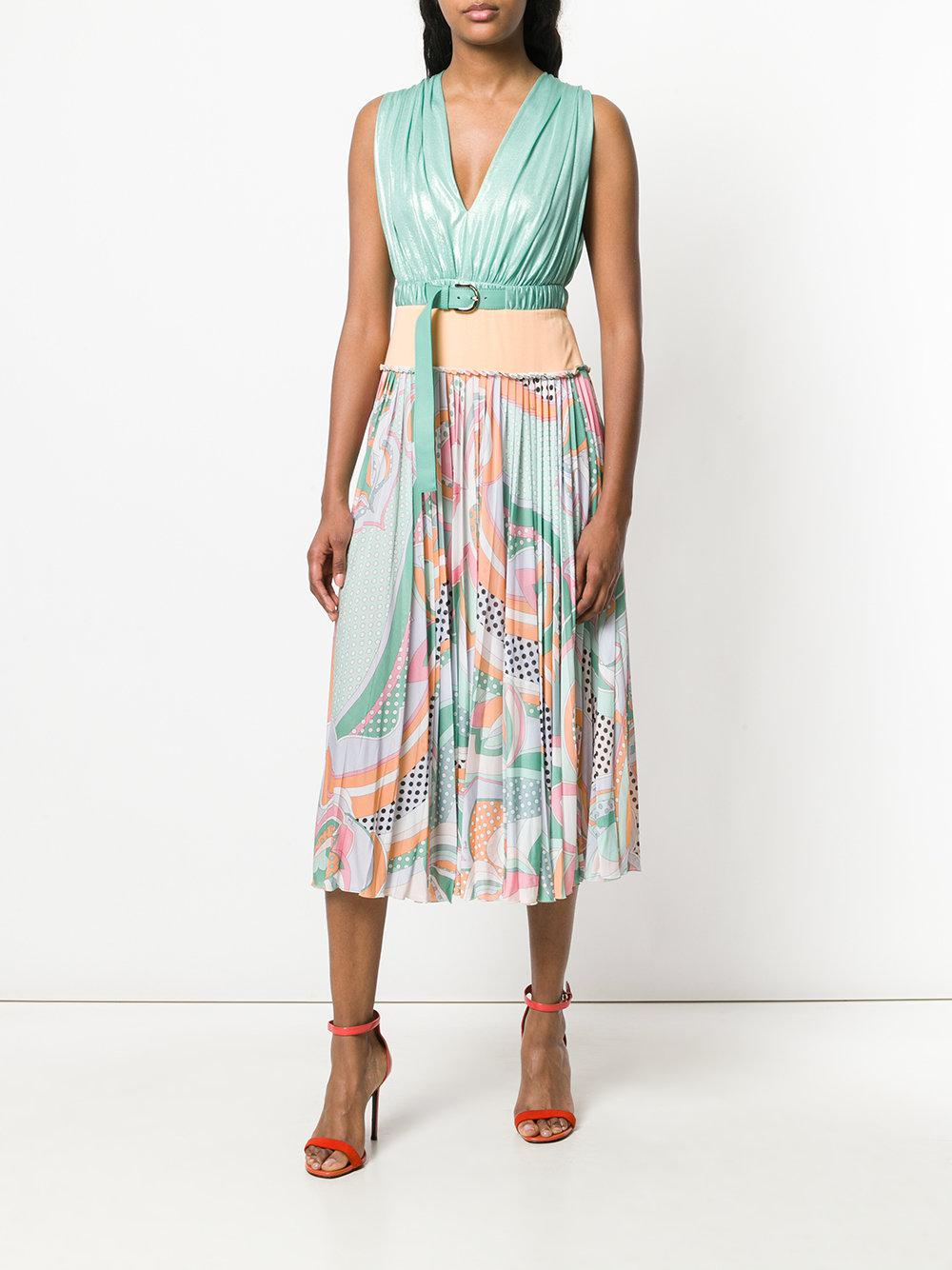 panelled printed midi dress - Multicolour Emilio Pucci Clearance Free Shipping 6Ge0G09qA