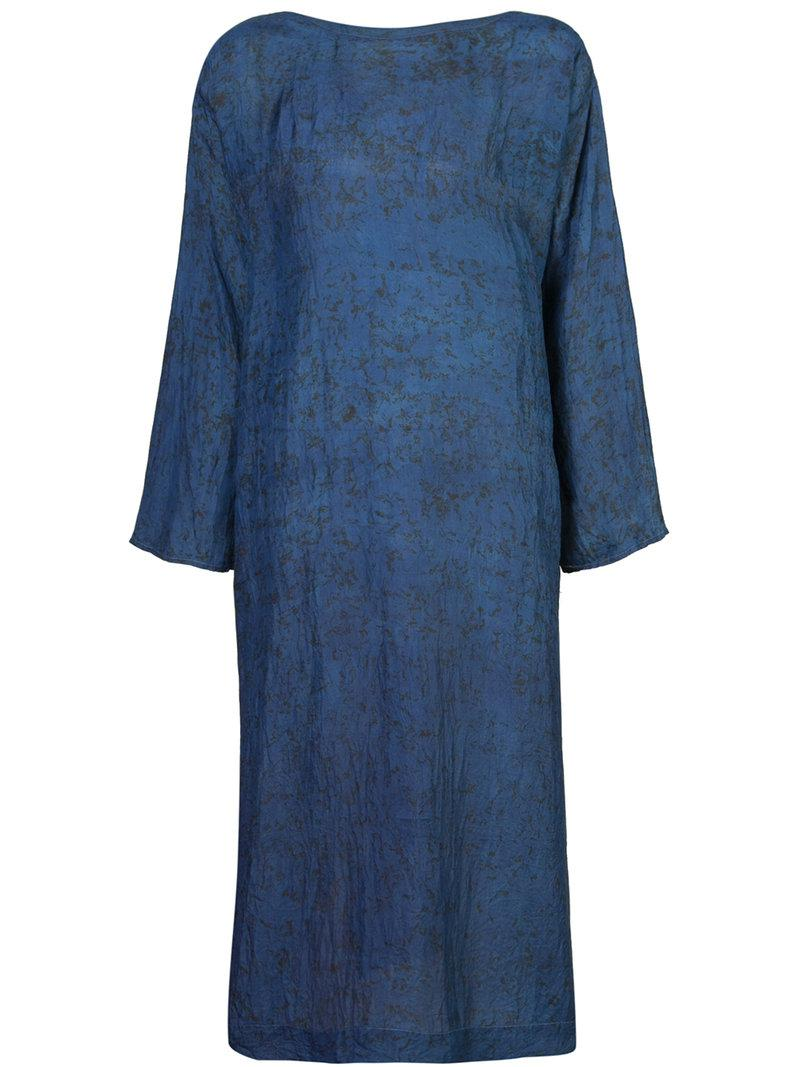 Lyst Dosa Tunisian Tunic Dress In Blue
