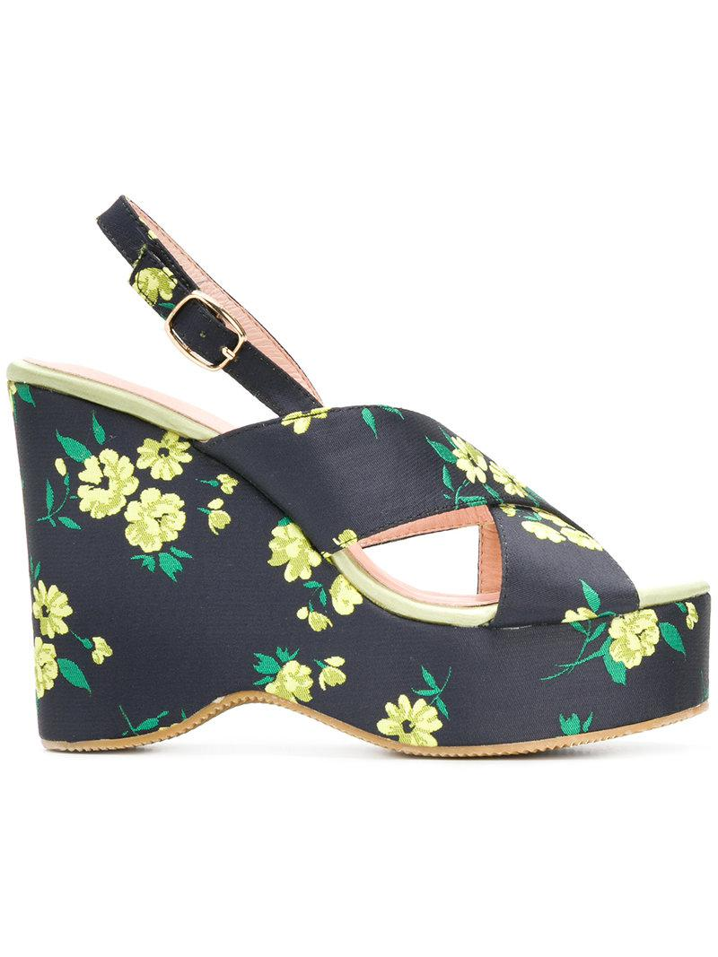 Essentiel Antwerp Pesteban floral platform sandals cheap price outlet very cheap with credit card cheap online classic for sale WmQ2sVe