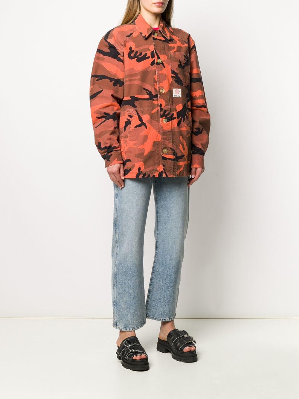 Veste à imprimé camouflage Coton McQ en coloris Orange