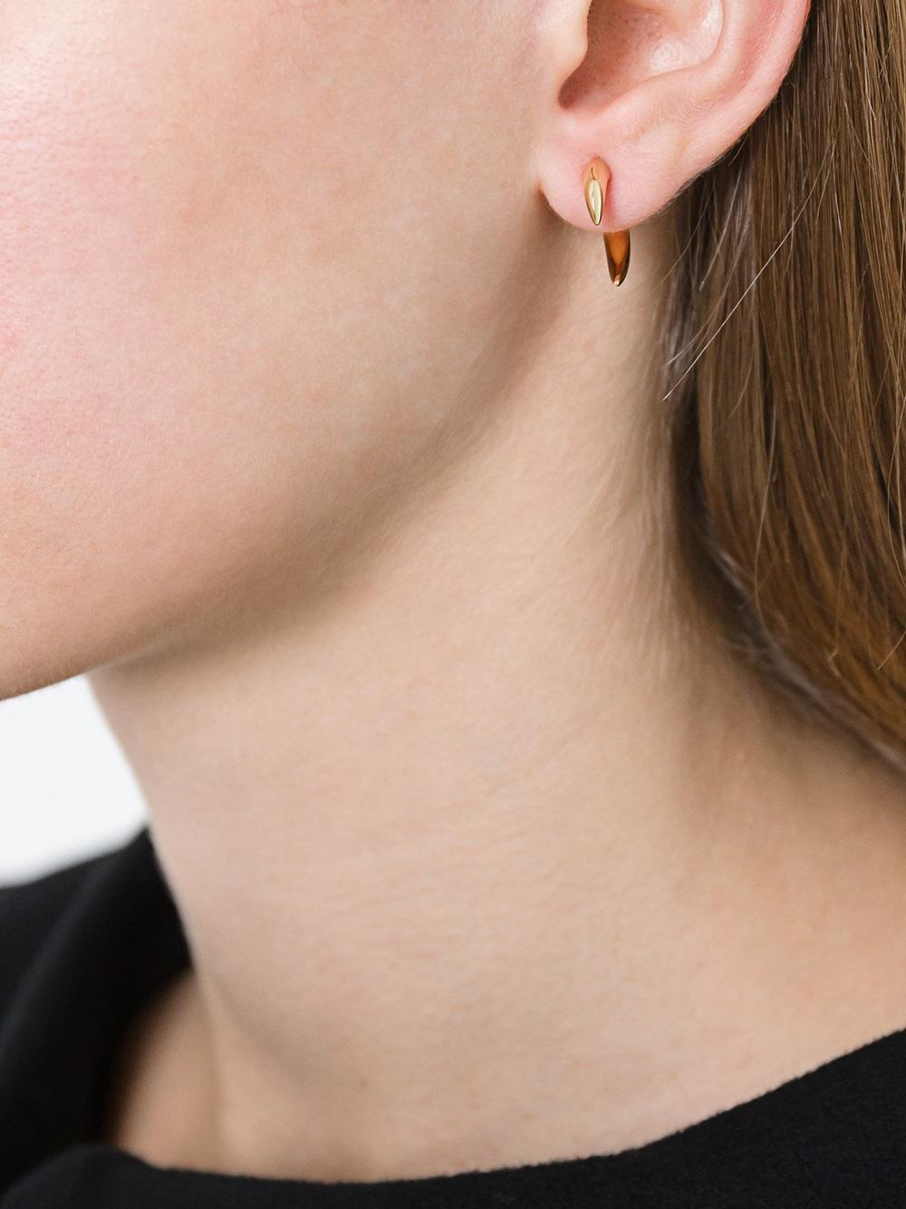 f265f5146 Shaun Leane 18kt Yellow Gold Small 'talon' Earrings in Metallic - Lyst