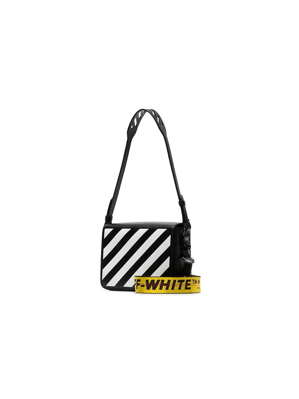 2d5c833addc3a Lyst - Off-White c o Virgil Abloh Striped Tape Shoulder Bag in Black ...