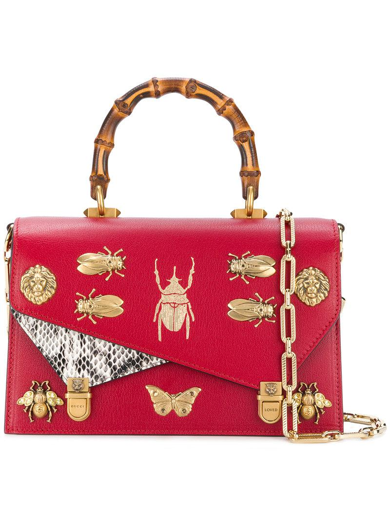 b61418f22640 Gucci Small Ottilia Top Handle Bag in Red - Save 10% - Lyst