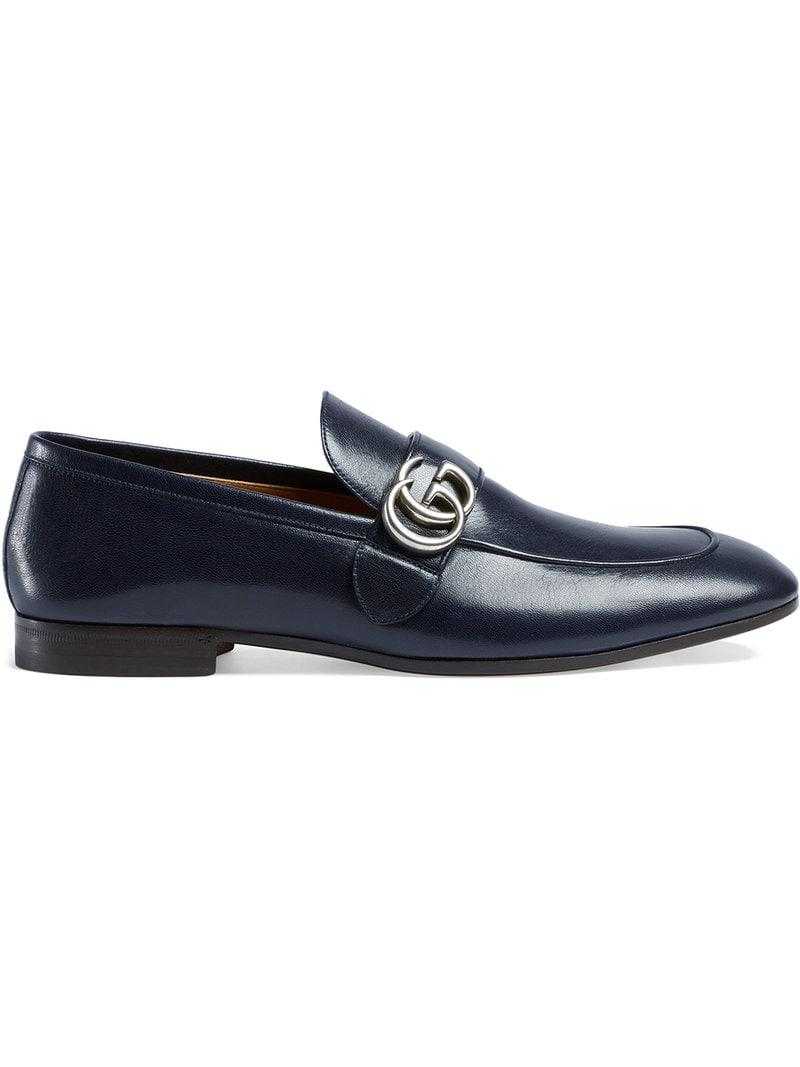 99c7d5db8 Gucci Leather Loafer With GG in Blue for Men - Save 10% - Lyst