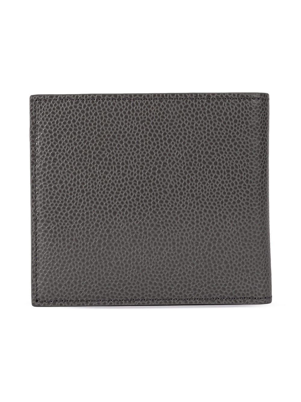 cd1dd5f5ed1d Thom Browne Grey Striped Bifold Wallet in Gray for Men - Lyst