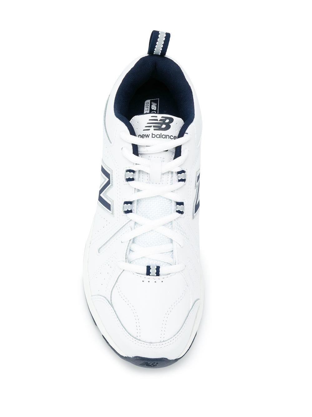 New Balance Leather Panelled Sneakers In White For Men Lyst