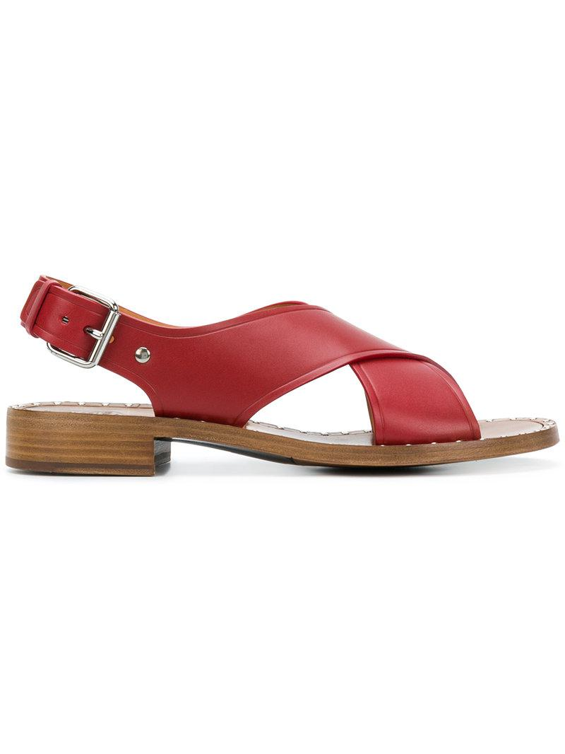 Alexachung Red & White Fussbett Sandals kqf2diJh