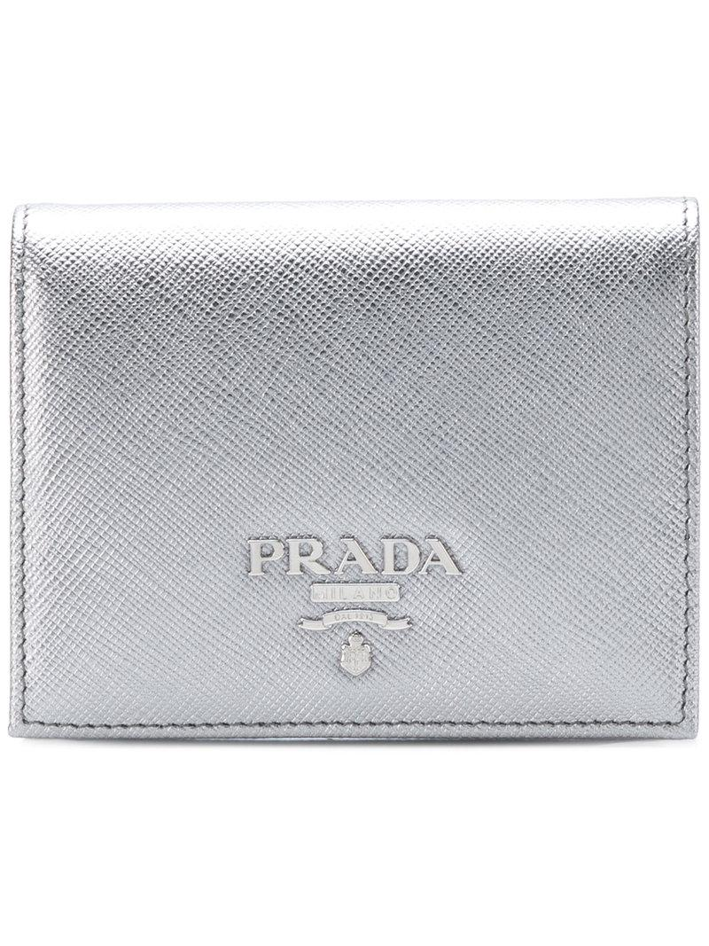 metallic mini flap wallet Prada RboKVd1