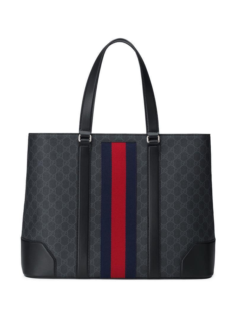 Lyst - Gucci GG Supreme Tote in Black for Men - Save 25% 0ae62364547ab