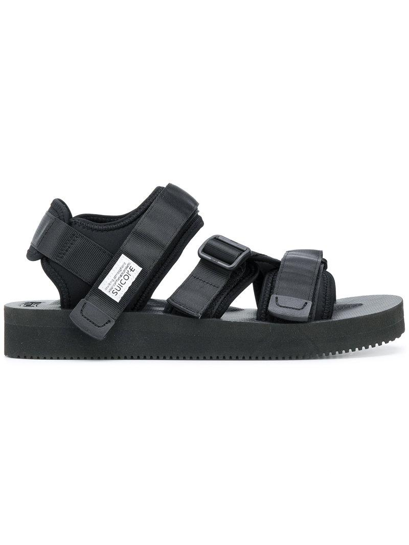 a571fda28298 Lyst - Suicoke Hook   Loop Strappy Sandals in Black for Men