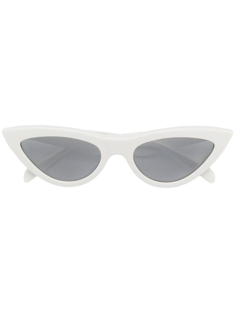 ec100620c Céline Cat Eye Sunglasses in White - Lyst