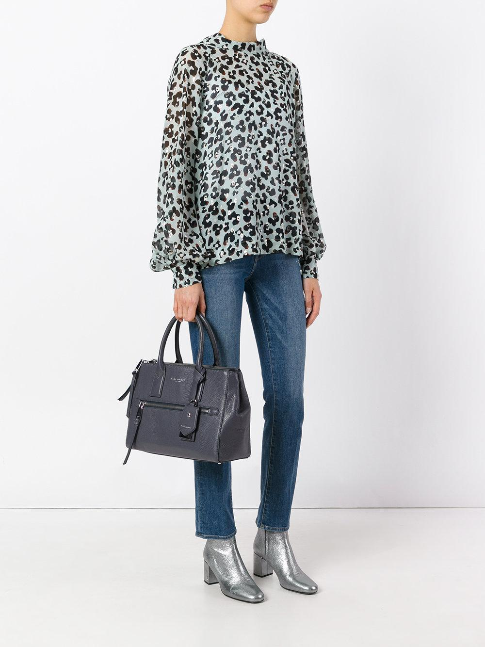 Marc Jacobs Leather Tote Bag in Grey (Grey)