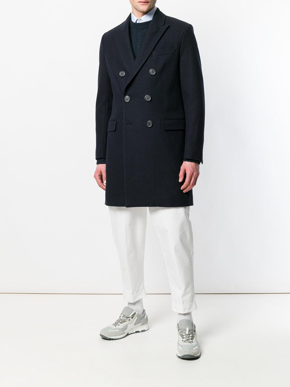 AMI Cotton Oversized Carrot Fit Trousers in White for Men