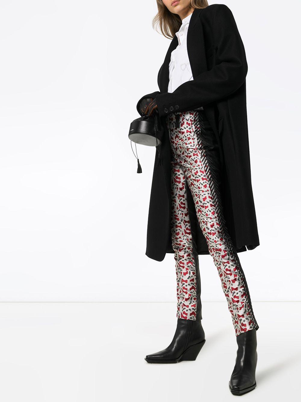 Pantalones pitillo estampados Haider Ackermann de Cuero de color Gris