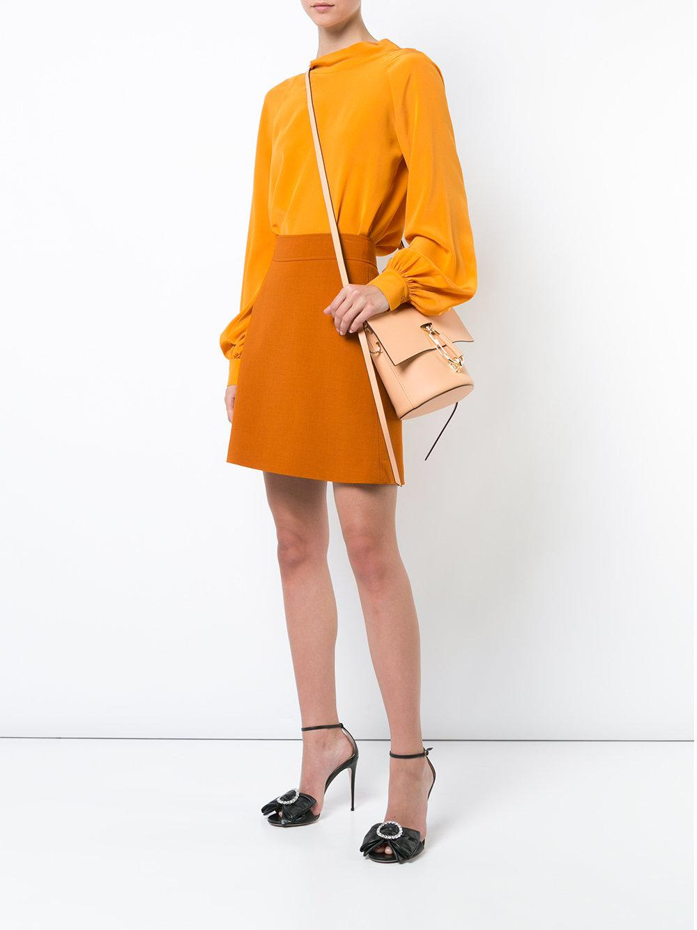 Zac Zac Posen Leather Belay Crossbody - Solid in Yellow & Orange (Natural)