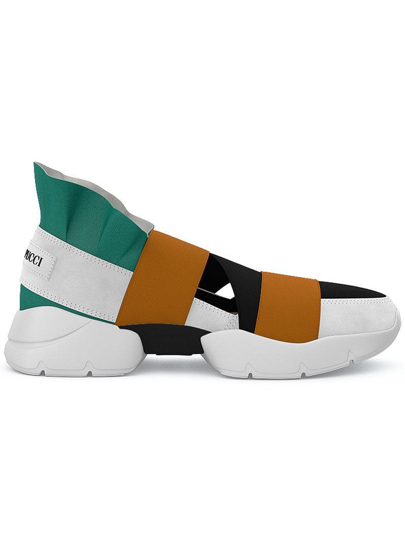 Emilio Pucci & City Up Elastic Sneakers Wp7QJSjX