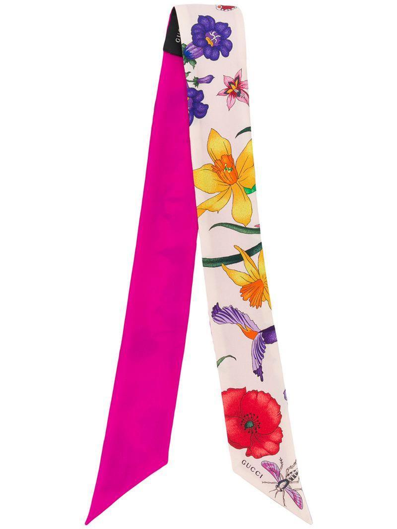 010640f9caab Gucci - Pink Silk Neck Bow - Lyst. View fullscreen