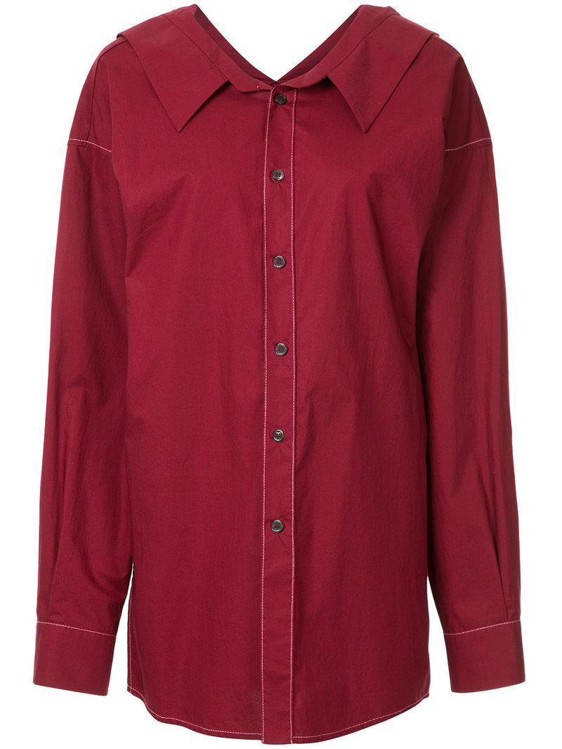 6fcd3f556c Lyst - Marni Oversized Longline Shirt in Blue