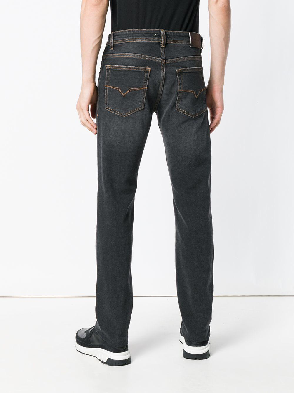 Versace Jeans Couture Denim Straight Leg Jeans in Grey (Grey) for Men