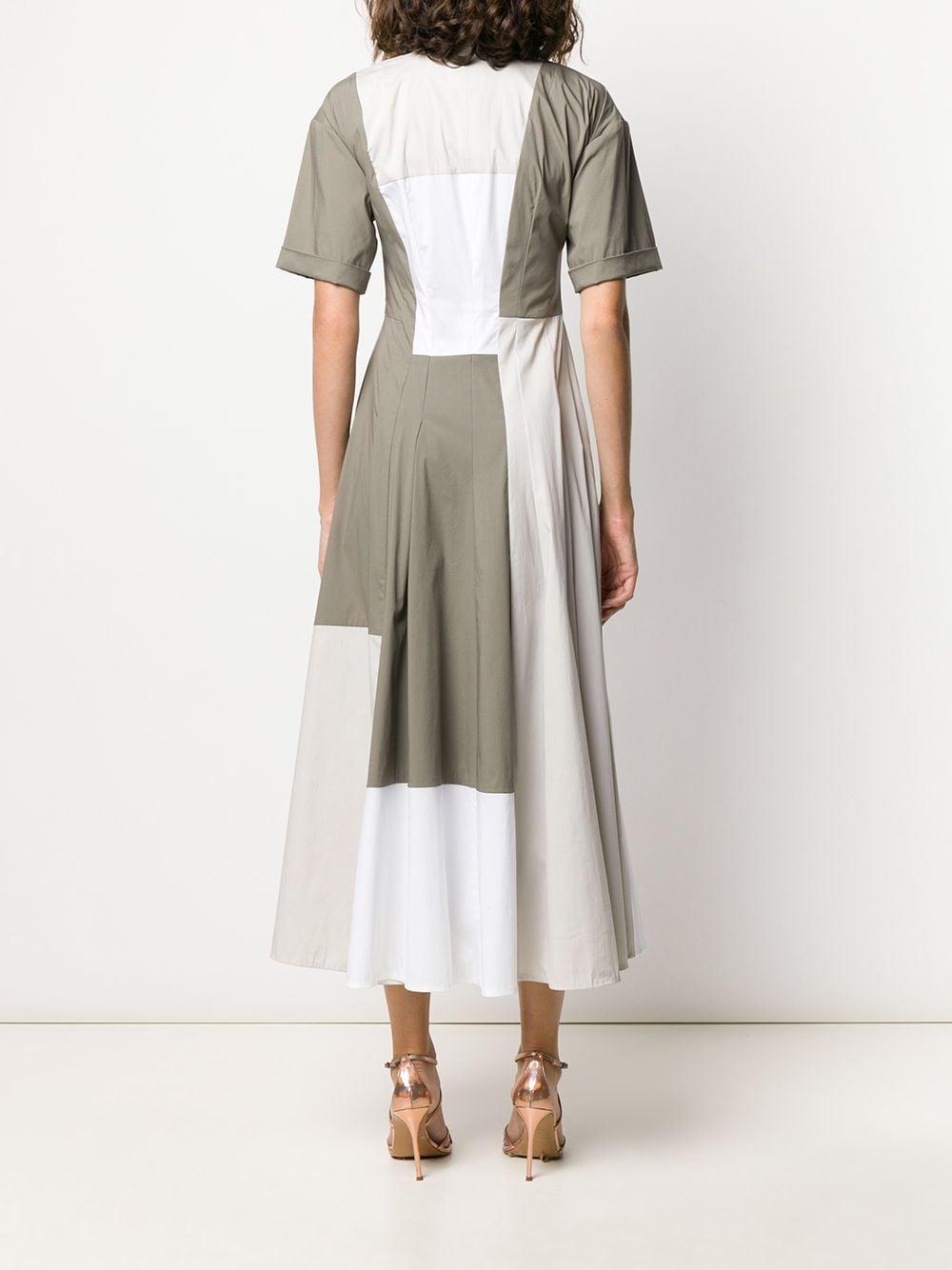 Vestido Bourgeois con diseño colour block Talbot Runhof de Algodón de color Blanco