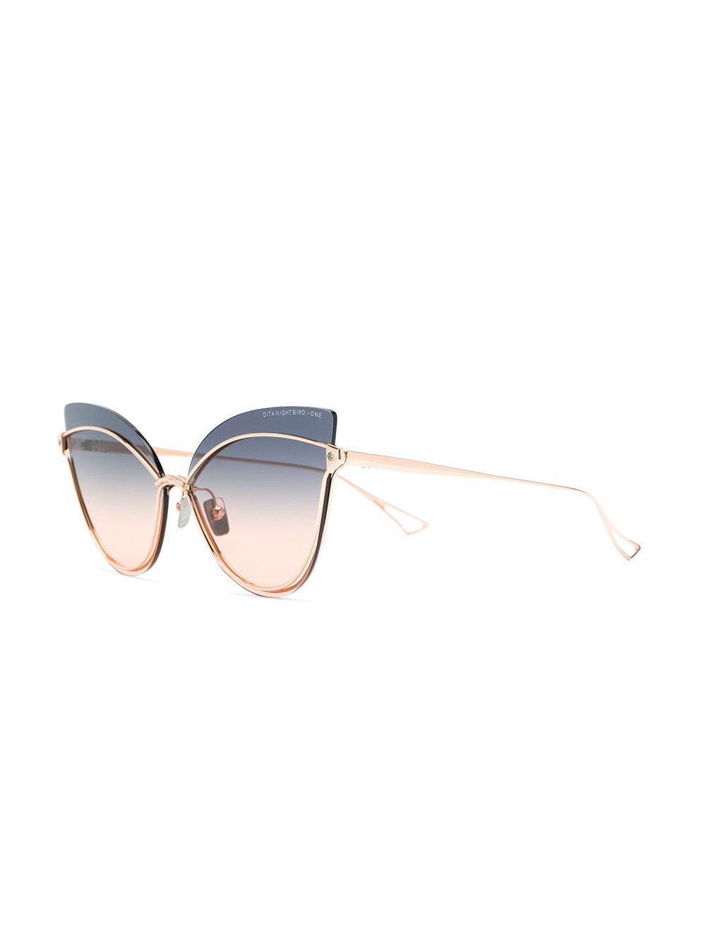 In Dita Nightbird One Eyewear Lyst Eye Sunglasses Cat Metallic 0xwdfq