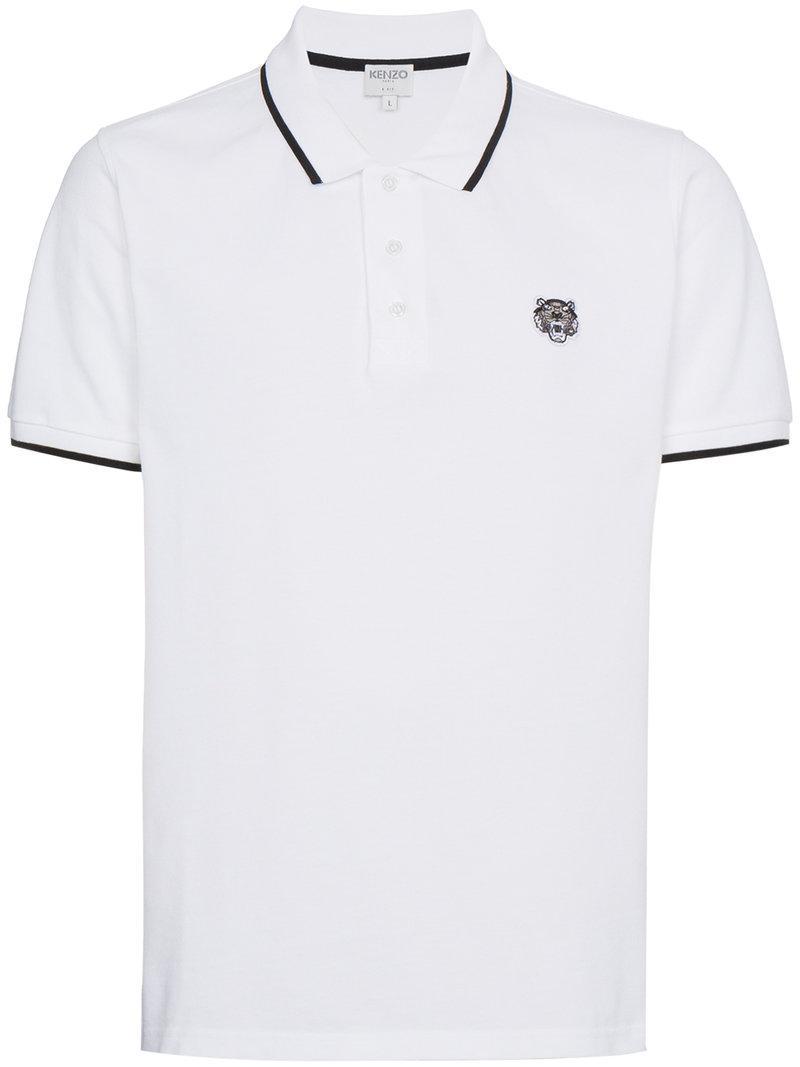 79ea8be4 KENZO - White Tiger Polo Shirt for Men - Lyst. View fullscreen