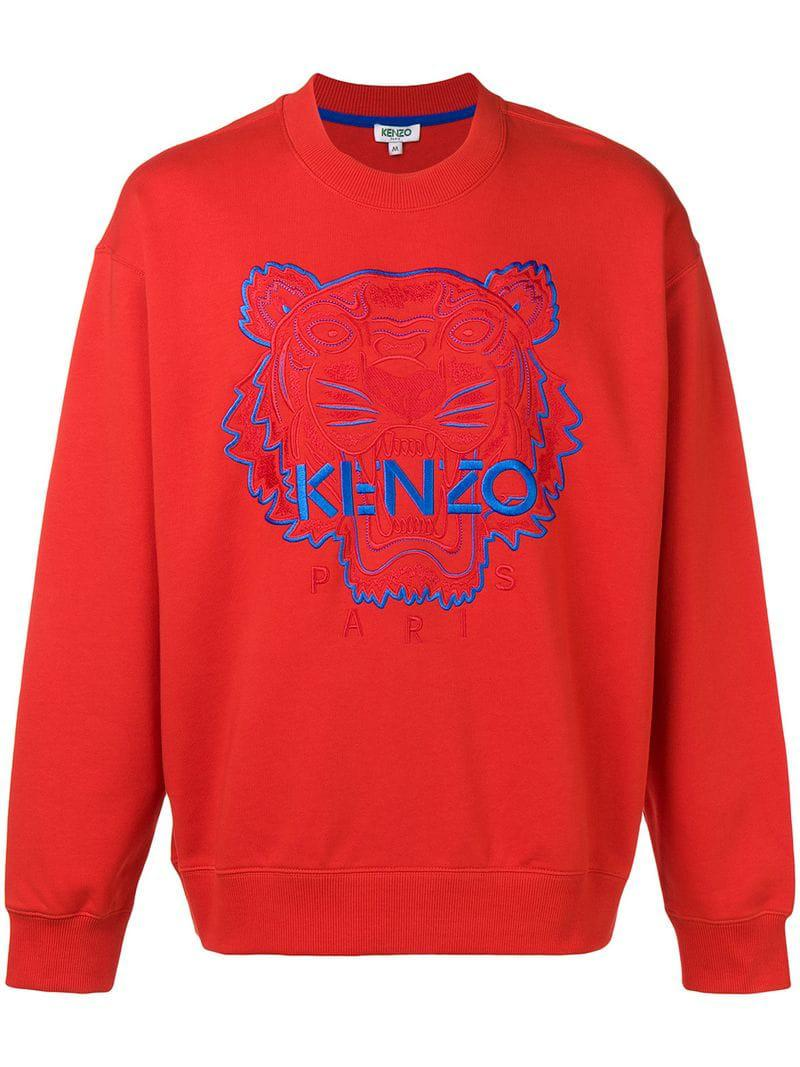 1fd25eb40 Kenzo Tiger Sweatshirt in Red for Men - Save 20.940170940170944% - Lyst