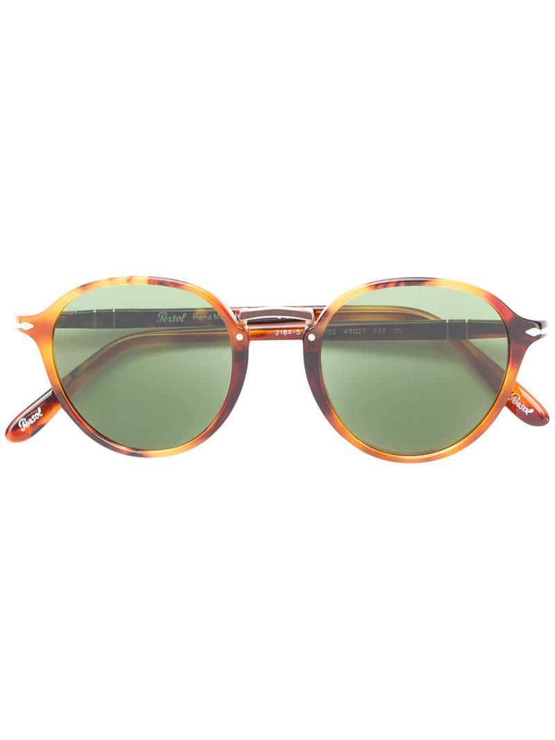 6e64829228 Gafas de sol con montura redonda Persol de hombre de color Marrón - Lyst