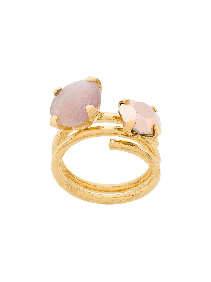 Technofossils mother of pearl ring - Metallic Wouters & Hendrix EN0fcdwI9X