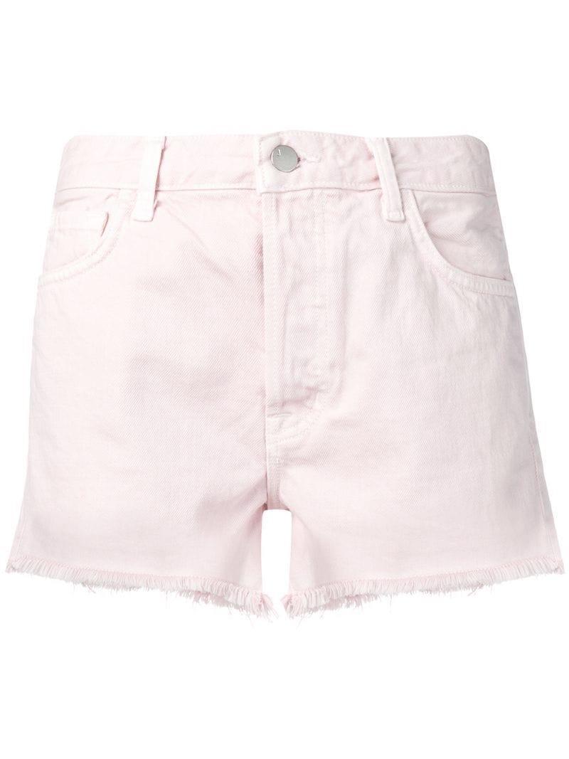 0c8ec9bf78 Lyst - J Brand Short Denim Shorts in Pink