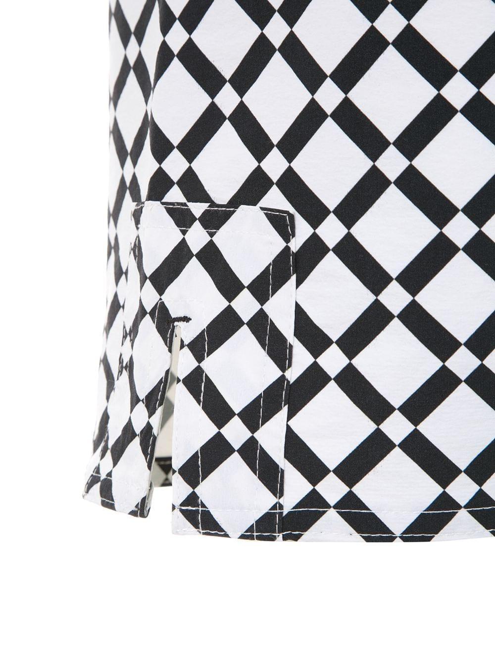 Amir Slama Synthetisch Zwembroek Met Geometrische Print in het Zwart voor heren