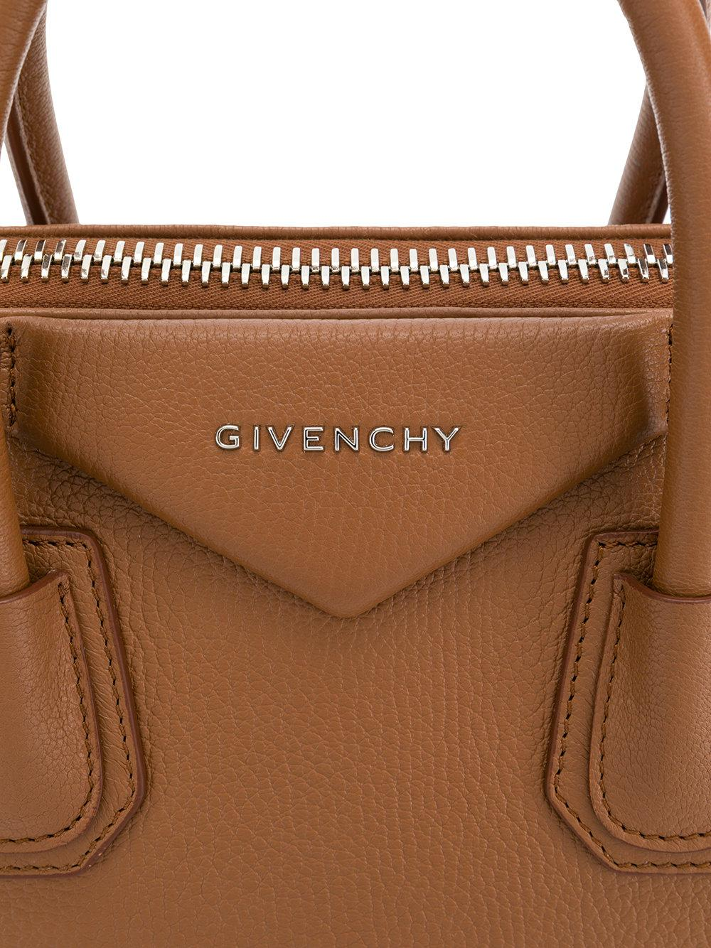 Givenchy Leather Antigona Tote in Brown