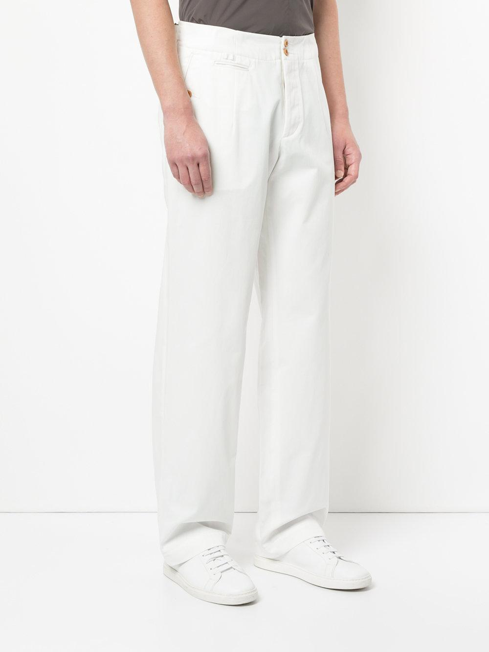 Kolor Cotton Casual Straight-leg Chinos in White for Men