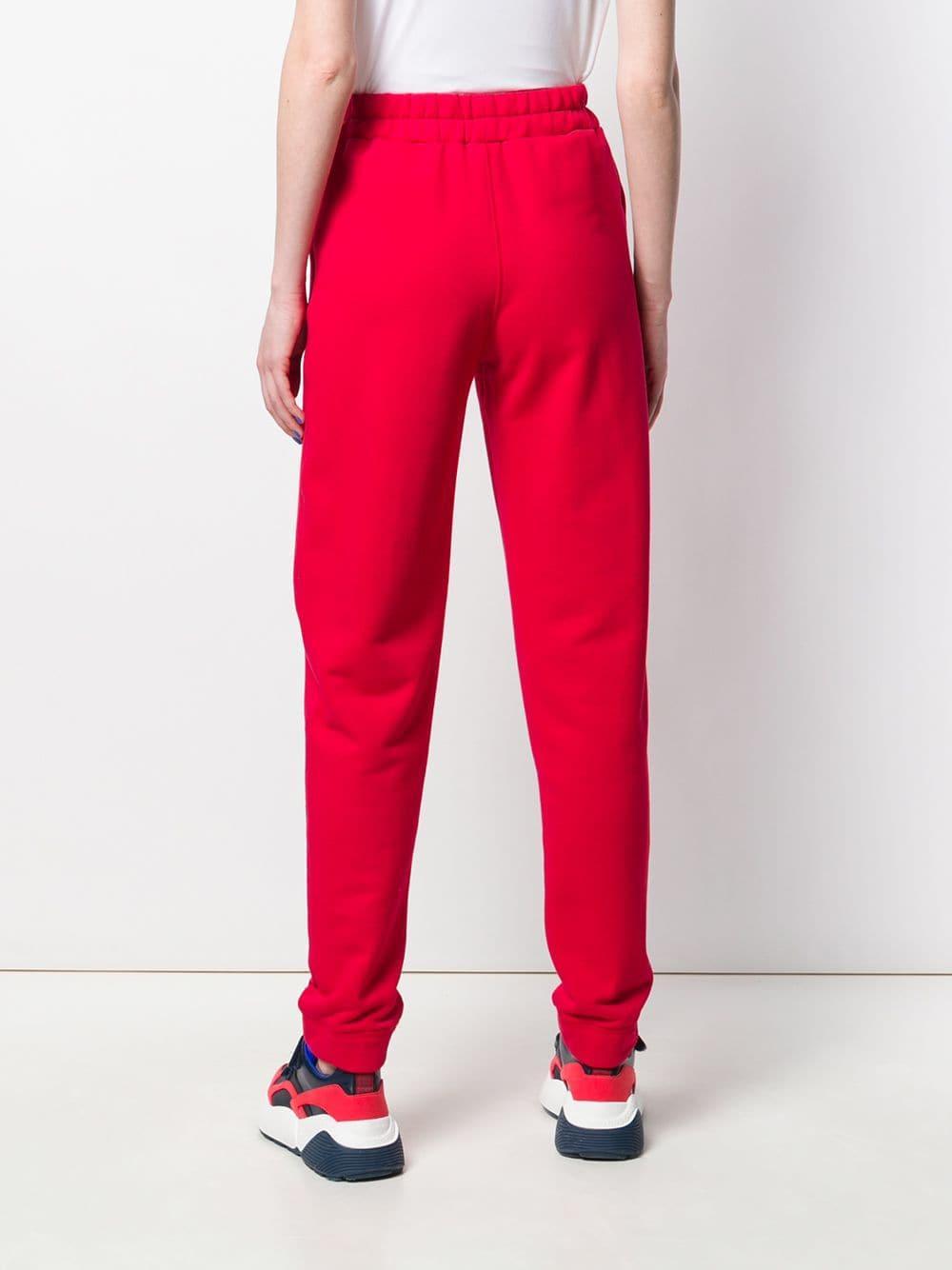 Pantalones de chándal con logo estampado Styland de Tejido sintético de color Rojo