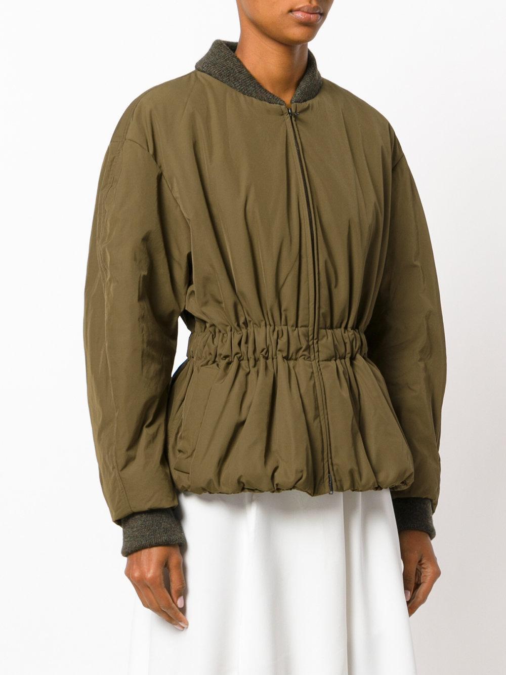 f26010341 Isabel Marant Brown Dex Short Bomber-style Jacket