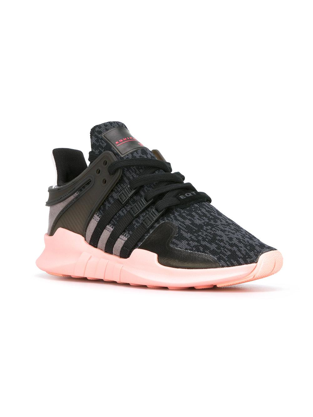 adidas Cotton Equipment Support Adv Sneakers in Black