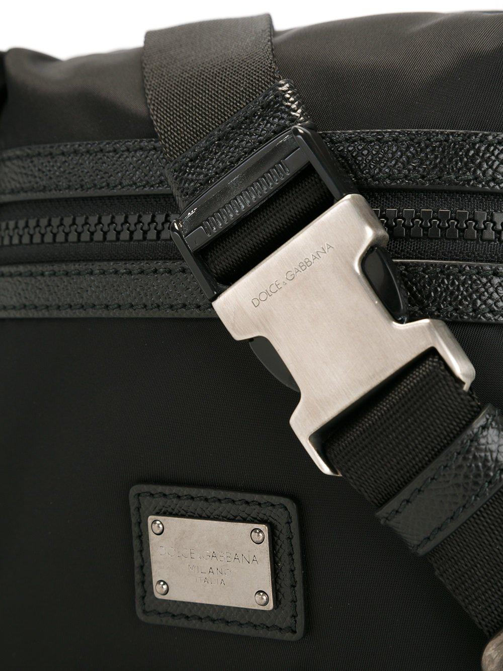 ea6b3cf19814 Dolce   Gabbana - Black Double Compartment Bumbag for Men - Lyst. View  fullscreen